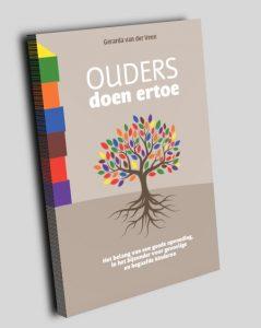 Het boek Ouders doen ertoe van Gerarda van der Veen.